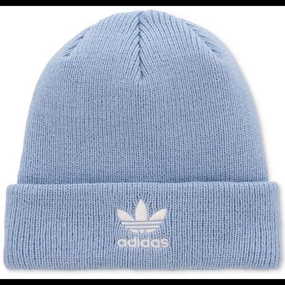 b0de4e8ec789e ✨NWT✨ Baby Blue Adidas Trefoil Knit Beanie NWT